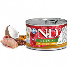 N&D DOG QUINOA Quail & Coconut Mini 140g