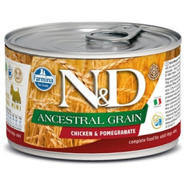 N&D DOG LOW GRAIN Adult Chicken &Pomegranate Mini 140g
