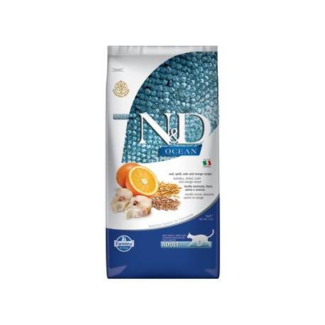 N&D OCEAN CAT LG Adult Codfish & Orange 10kg