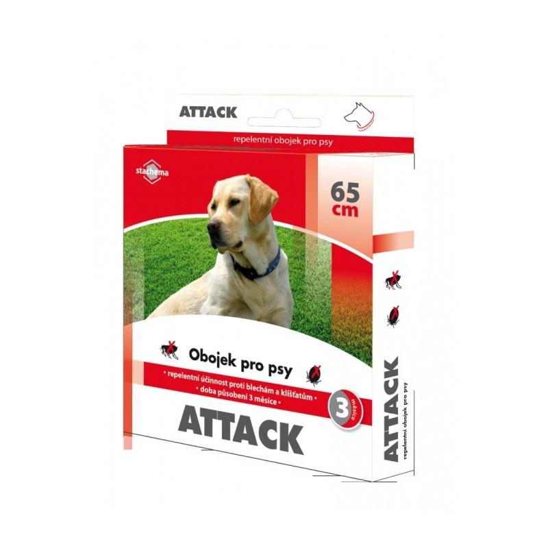 Stachema CZ s.r.o. Antiparazitární obojek pr psy Attack 65 cm
