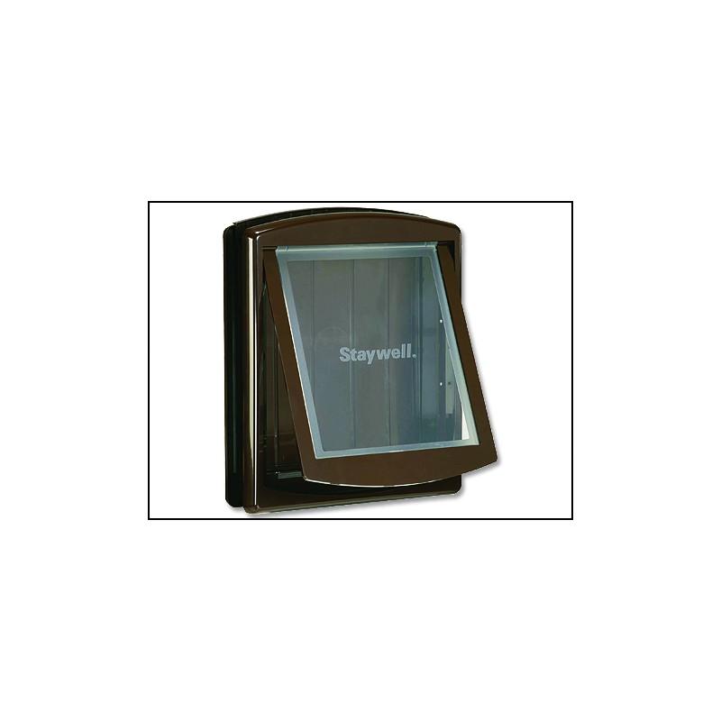 RADIO SYSTEM - dvířka Dvířka STAYWELL hnědá s transparentním flapem 775 1ks