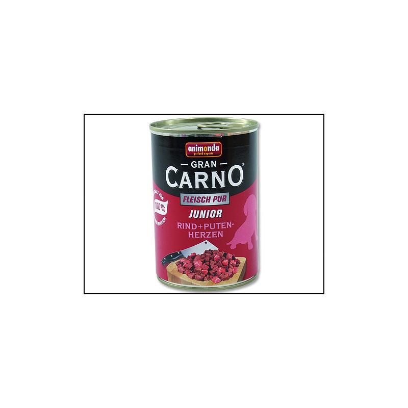 FELIX Konzerva ANIMONDA Gran Carno Junior hovězí + krůtí srdce 400g