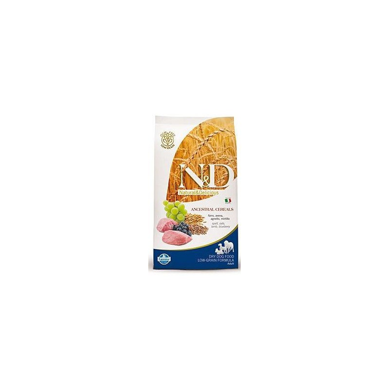 Farmina Pet Foods - N&D N&D Low Grain DOG Adult Mini Lamb & Blueberry 2,5kg