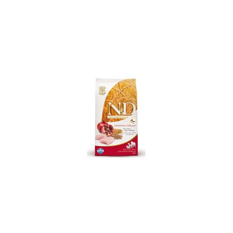 Farmina Pet Foods - N&D N&D Low Grain DOG Adult Mini Chicken & Pomegr 800g
