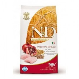 N&D Low Grain CAT Adult Chicken & Pomegranate 300g