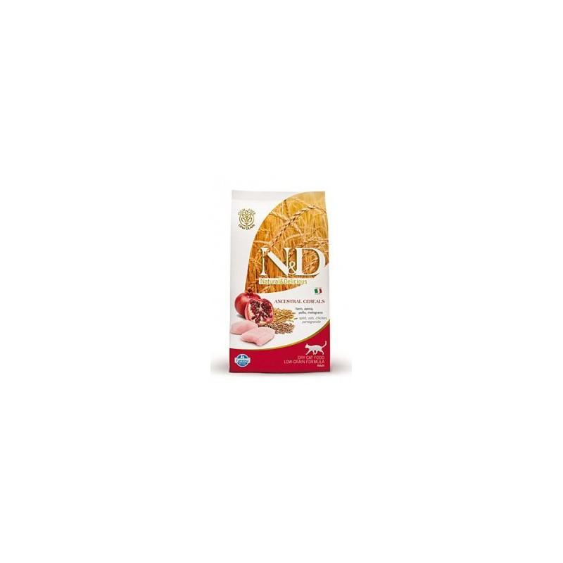 Farmina Pet Foods - N&D N&D Low Grain CAT Adult Chicken & Pomegranate 300g