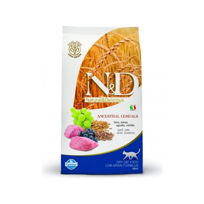 Farmina Pet Foods - N&D N&D Low Grain CAT Adult Lamb & Blueberry 300g