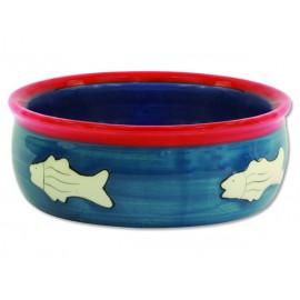Miska MAGIC CAT keramická s rybkou 12,5 cm 1ks