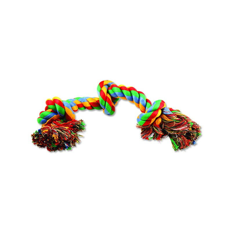 PINGYANG Uzel DOG FANTASY bavlněný barevný 3 knoty 40 cm 1ks