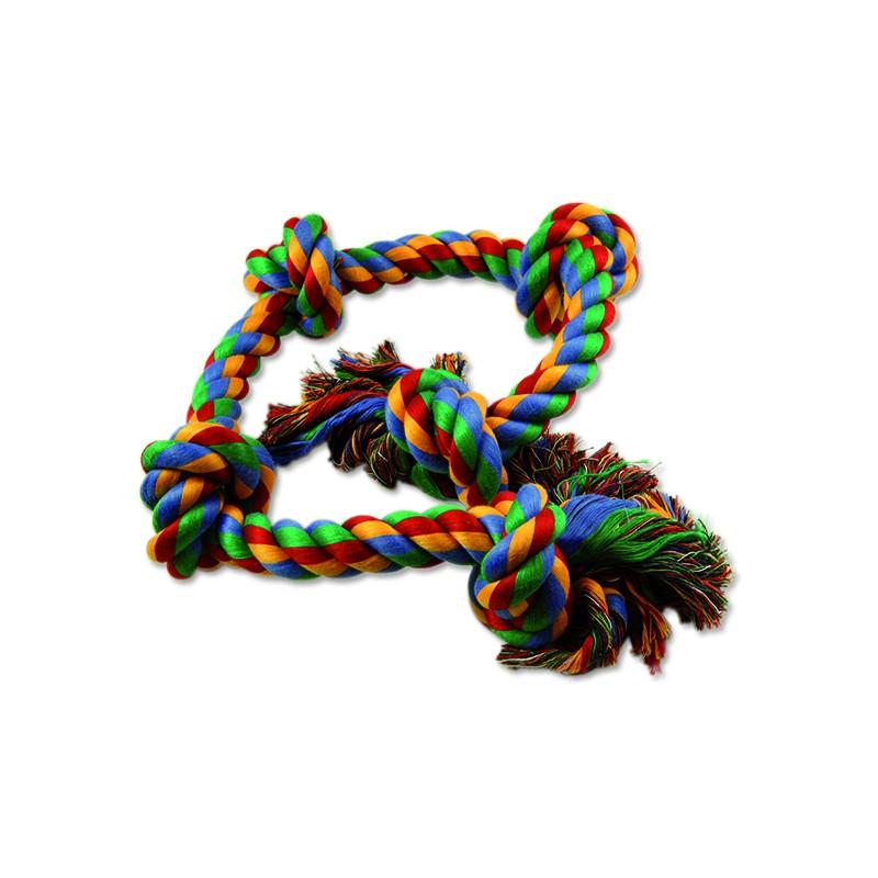 PINGYANG Uzel DOG FANTASY bavlněný barevný 5 knotů 95 cm 1ks