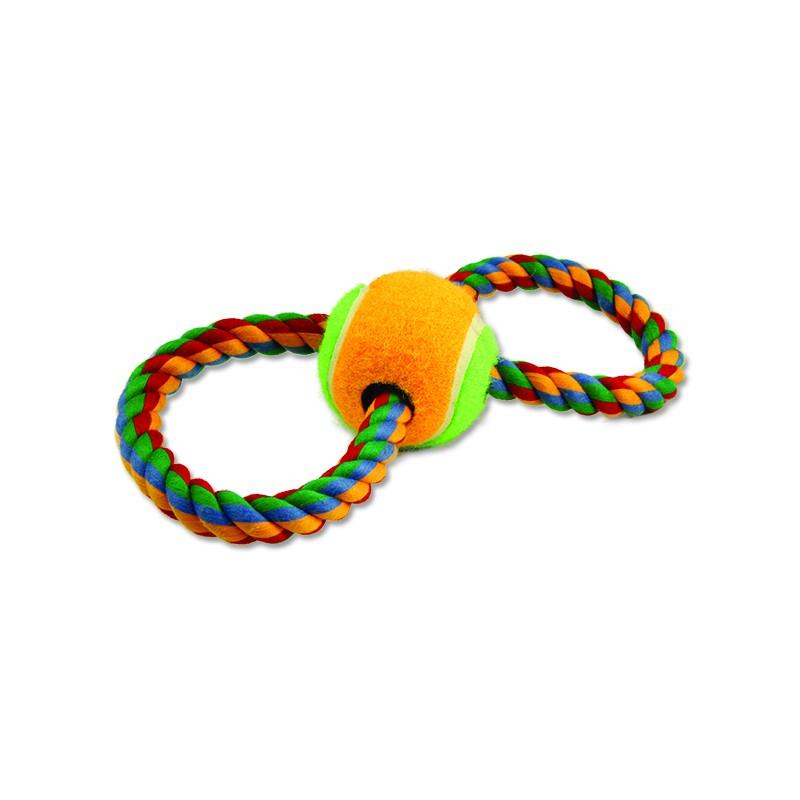 PINGYANG Přetahovadlo DOG FANTASY osmička barevné + tenisák 25 cm 1ks