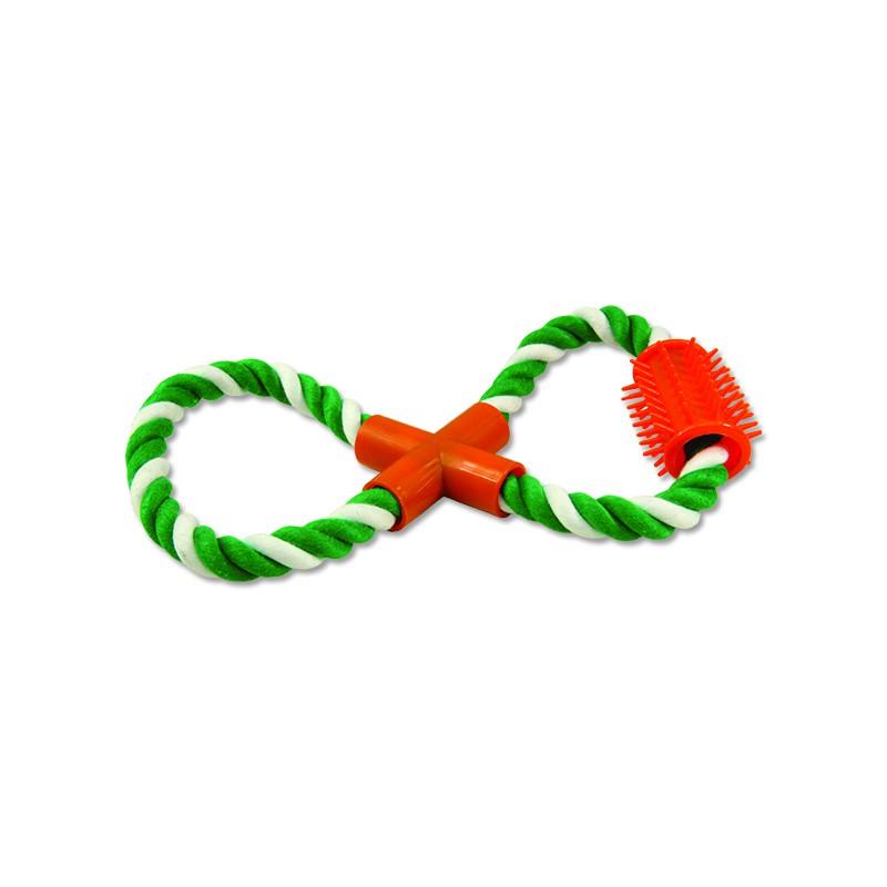 PINGYANG Přetahovadlo DOG FANTASY osmička zeleno-bílé 25 cm 1ks