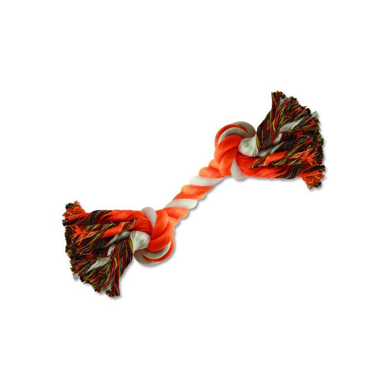 PINGYANG Uzel DOG FANTASY bavlněný oranžovo-bílý 2 knoty 20 cm 1ks