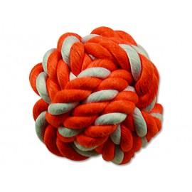 Hračka DOG FANTASY míč bavlněný oranžovo-bílý 12,5 cm 1ks