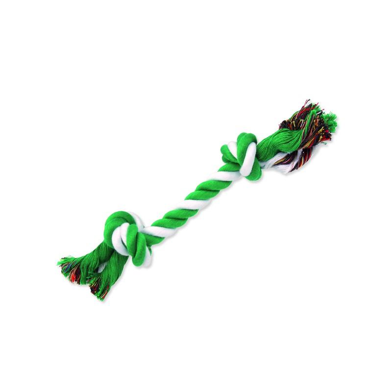 PINGYANG Uzel DOG FANTASY bavlněný zeleno-bílý 2 knoty 25 cm 1ks