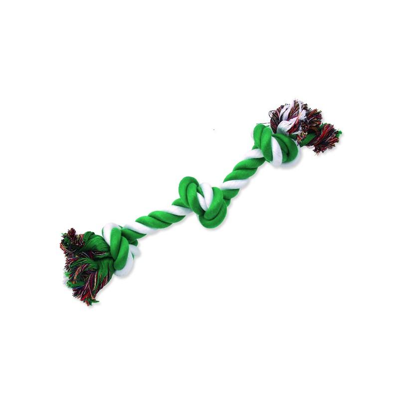 PINGYANG Uzel DOG FANTASY bavlněný zeleno-bílý 3 knoty 40 cm 1ks