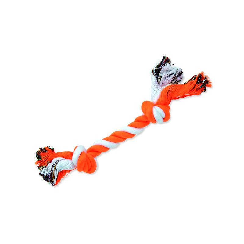 PINGYANG Uzel DOG FANTASY bavlněný oranžovo-bílý 2 knoty 25 cm 1ks