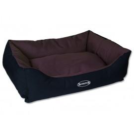 Pelíšek SCRUFFS Expedition Box Bed čokoládový L 1ks