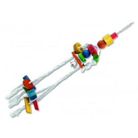 Hračka BIRD JEWEL medůza závěsná dřevo - provaz 70 cm 1ks
