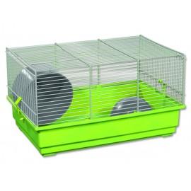 Klec SMALL ANIMALS Richard šedo-zelená se zelenou výbavou 1ks