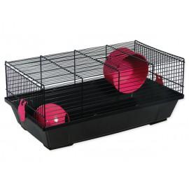 Klec SMALL ANIMALS Viktor černá s červenou výbavou 1ks