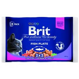 Kapsičky BRIT Premium Cat Fish Plate 400g
