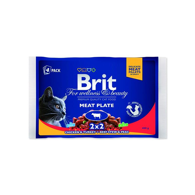 VAFO Praha s.r.o. Kapsičky BRIT Premium Cat Meat Plate 400g