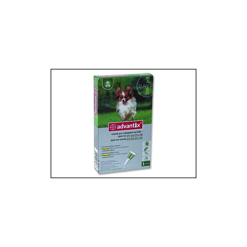BAYER Animal Health BAYER Advantix Spot-On pro psy do 4 kg 0,4ml
