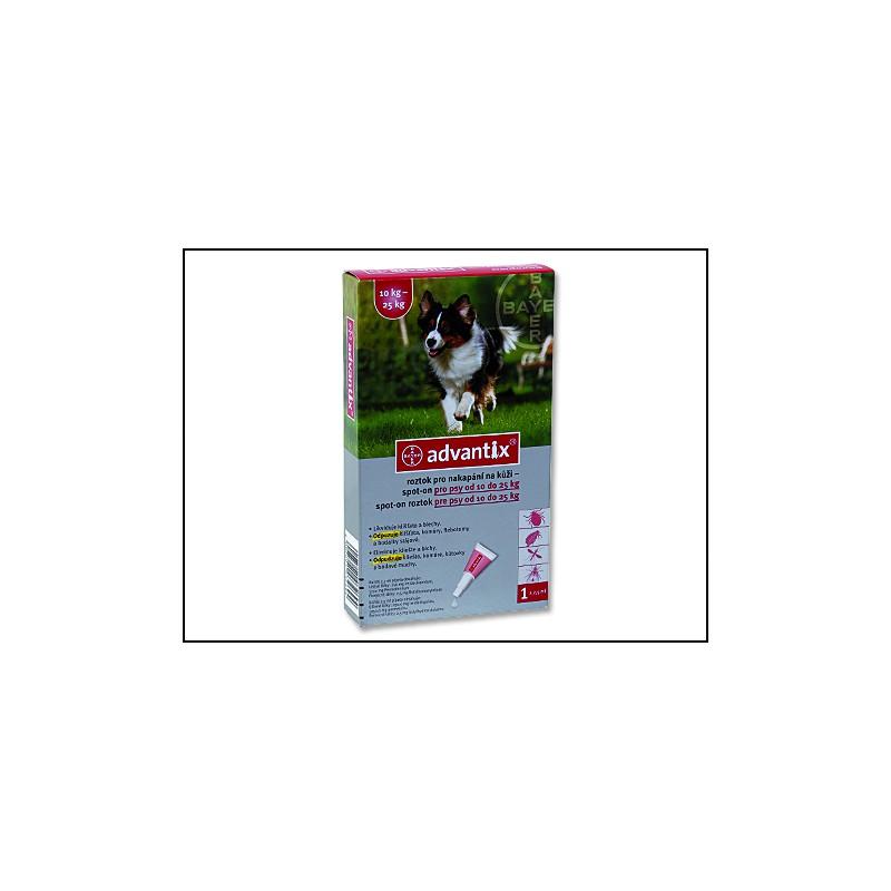 BAYER Animal Health BAYER Advantix Spot-On pro psy 10 - 25 kg 2,5ml
