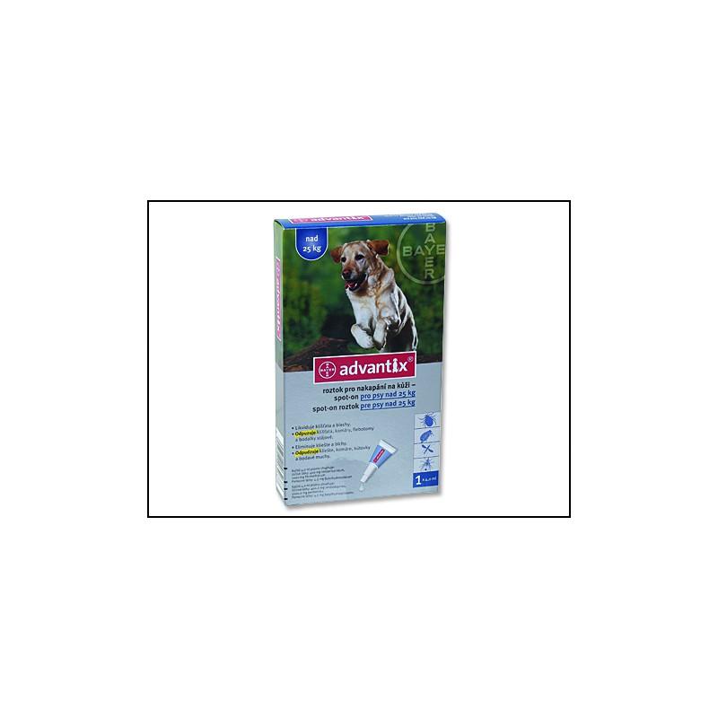 BAYER Animal Health BAYER Advantix Spot-On pro psy nad 25 kg 4ml