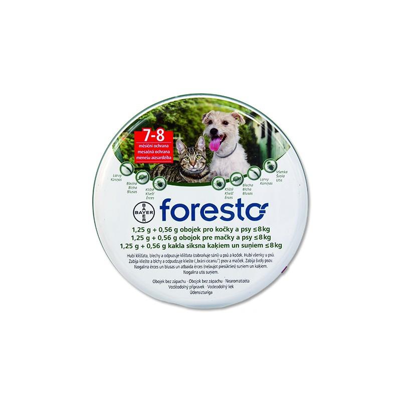 BAYER Animal Health Obojek BAYER Foresto pro kočky a malé psy 38 cm + přívěsek ZDARMA