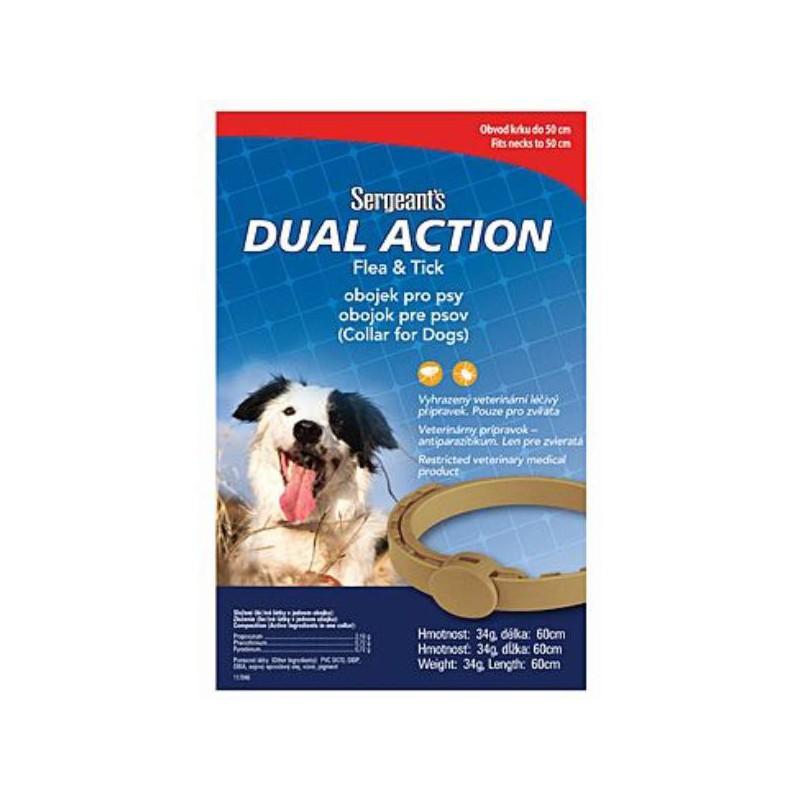 SERGEANT´S Pet Company Sergeanťs Dual obojek antipar. střední pes 60cm