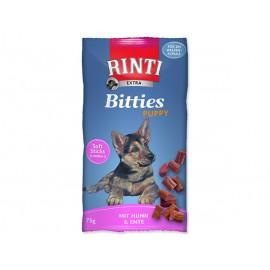 Pochoutka RINTI Extra Bitties Puppy kuře + kachna 75g