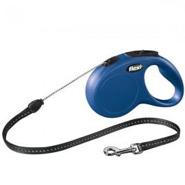 Vodítko FLEXI Classic NEW S lanko 5m/12kg modrá