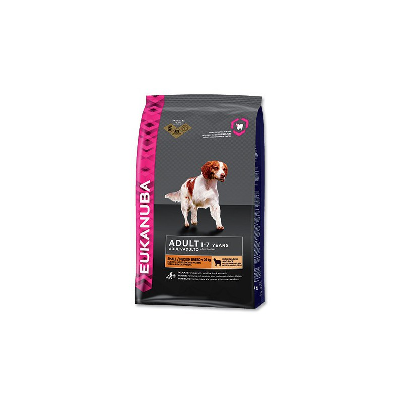 PG EUKANUBA Adult Small & Medium Lamb & Rice 12kg