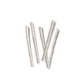 Buvolí tyčinka kroucená bílá 100 ks / 7 - 8 mm