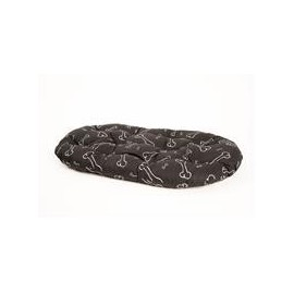 Polštář ovál Kost černo/bílý 60 cm
