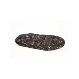 Polštář ovál Kost černo/bílý 120 cm