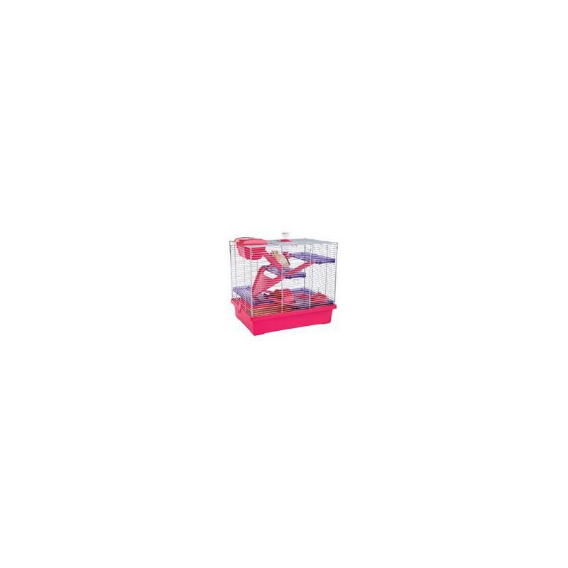 SAMOHYL Klec hlodavec křeček Pico XL růžová/fialová RW 50 x 36 x 47 cm