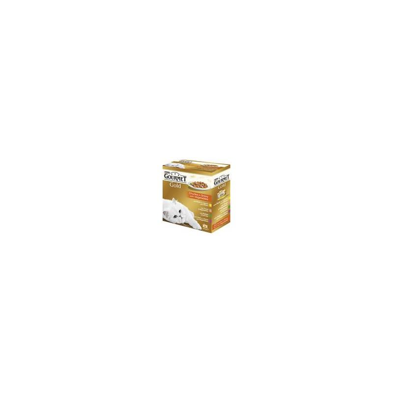 SAMOHYL Gourmet Gold konzerva kousky masa Exotic Multipack 7 + 1 ks zdarma x 85 g
