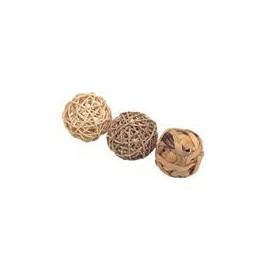 Hračka přírodní koule RW 8 cm 3 ks