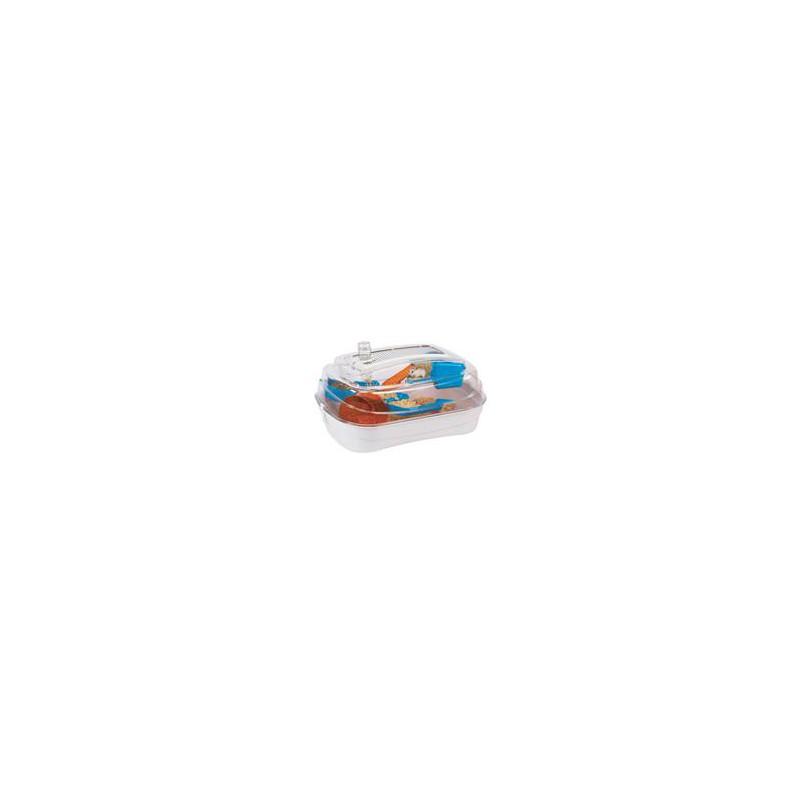 SAMOHYL Klec hlodavec křeček plast Abode bílá/mod./oranž RW 55 x 39 x 26,5 cm