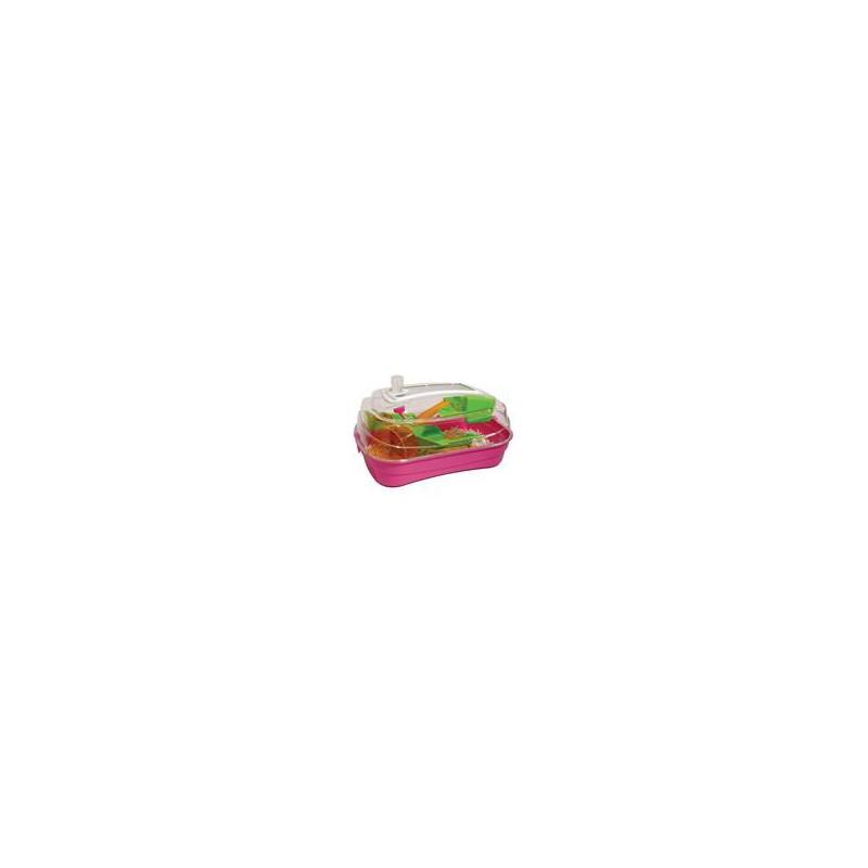SAMOHYL Klec hlodavec křeček plast Abode růž./zel./oranž RW 55 x 39 x 26,5 cm