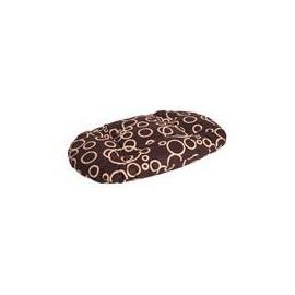 Polštář ovál bavlna Bednář hnědo/béžový 60 cm