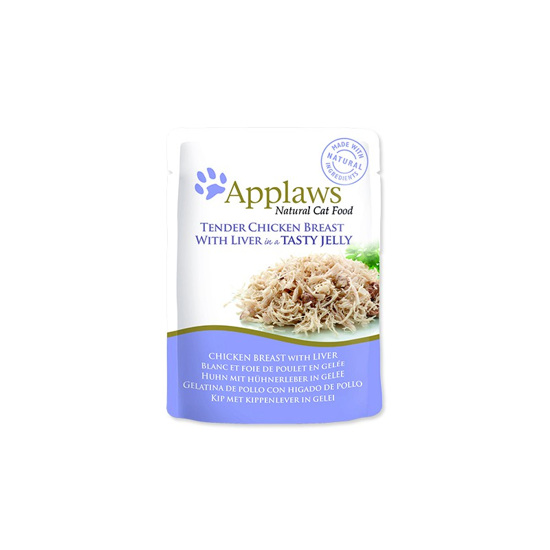 ALPHATECH Kapsička APPLAWS Cat Pouch Chicken with Liver in Jelly 70g
