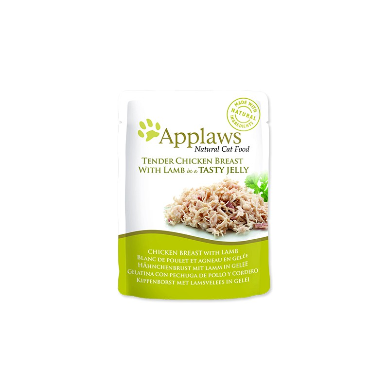 ALPHATECH Kapsička APPLAWS Cat Pouch Chicken with Lamb in Jelly 70g