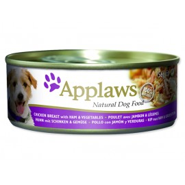 Konzerva APPLAWS Dog Chicken, Ham & Vegetables 156g