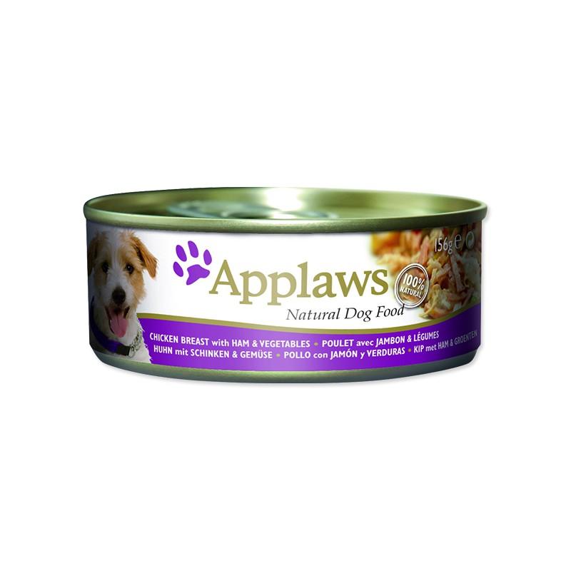 ALPHATECH Konzerva APPLAWS Dog Chicken, Ham & Vegetables 156g
