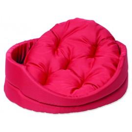 Pelíšek DOG FANTASY ovál s polštářem červený 60 cm 1ks