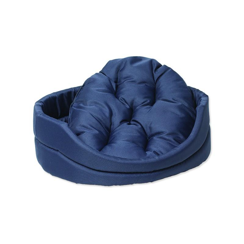PLAČEK Pelíšek DOG FANTASY ovál s polštářem tmavě modrý 60 cm 1ks